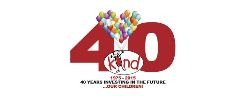 Childrens charity KIND celebrates it's 40th Birthday Year!